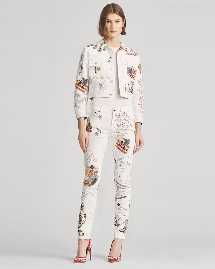 Ralph Lauren Summer Denim Sherwin Trucker Jacket and the Embellished 160 Slim Jean