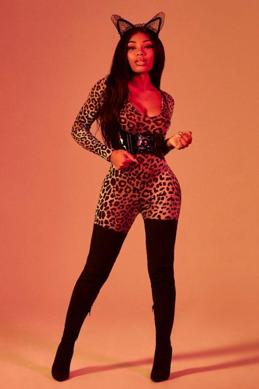 Halloween Leopard Print Catsuit