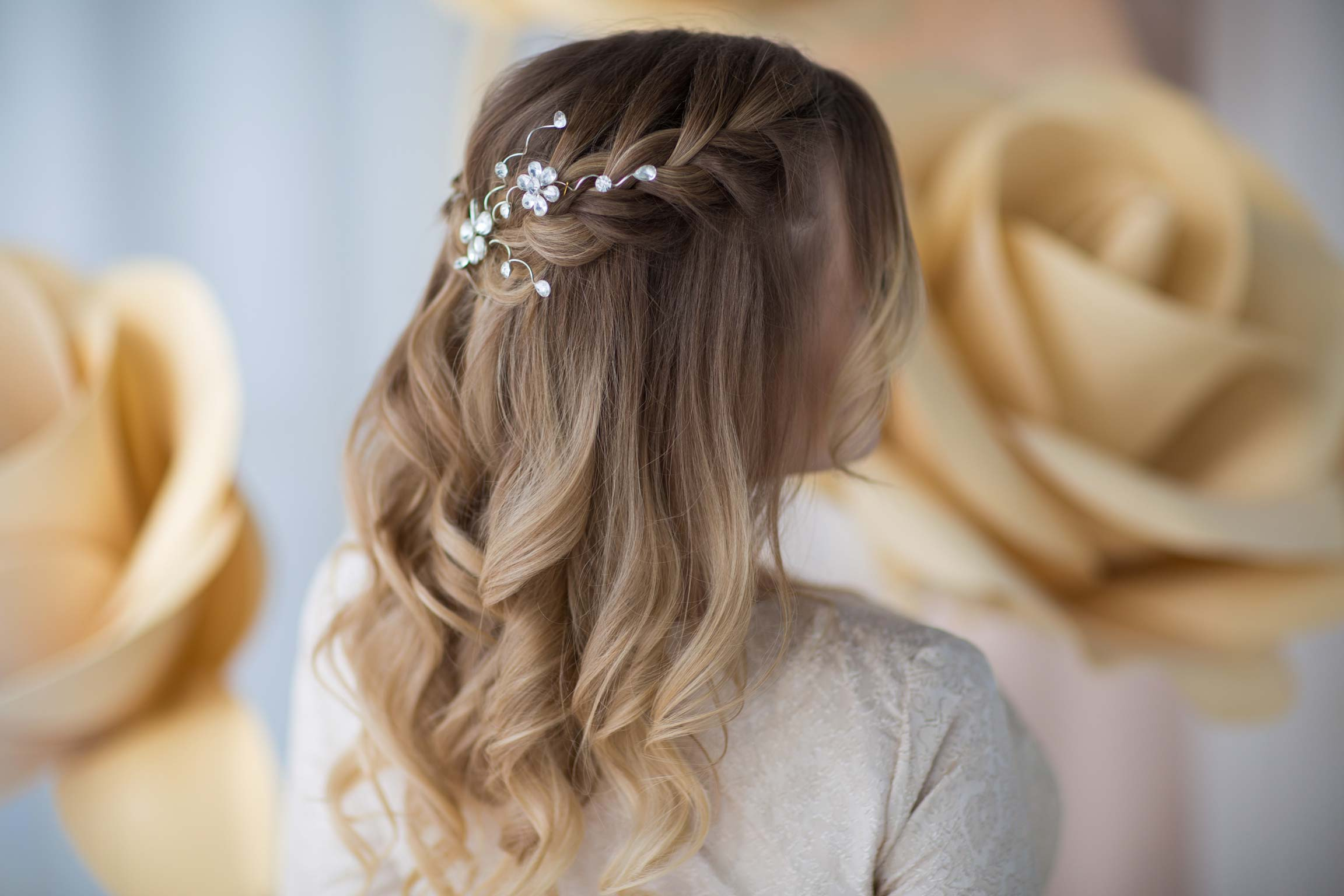 wedding bride hairstyle waves