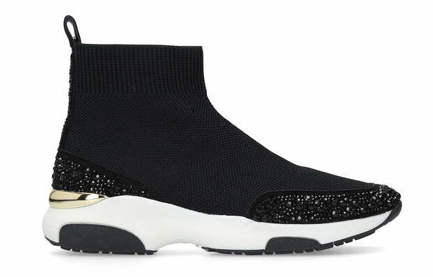Black Embellished High Top Sock Trainers