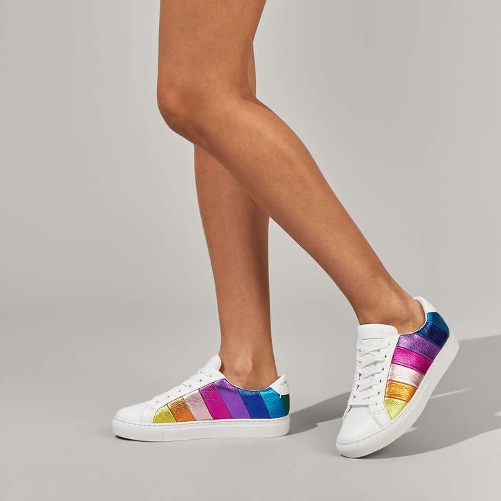 Rainbow Stripe Lace Up Trainers