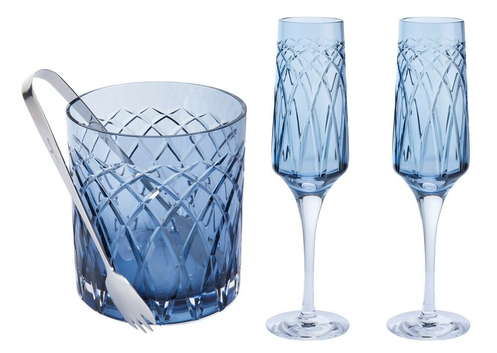Darlington Crystal - Harris Flute & Ice Bucket Gift Set