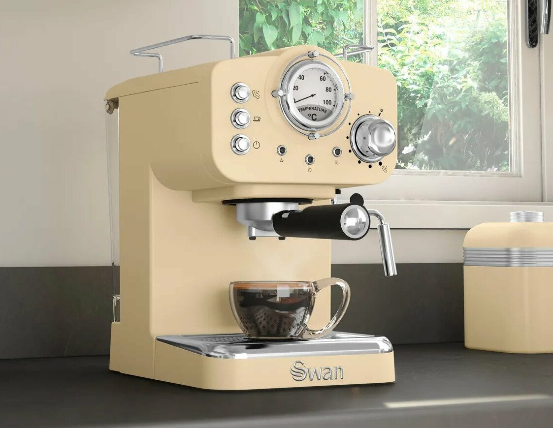 swan retro coffee machine