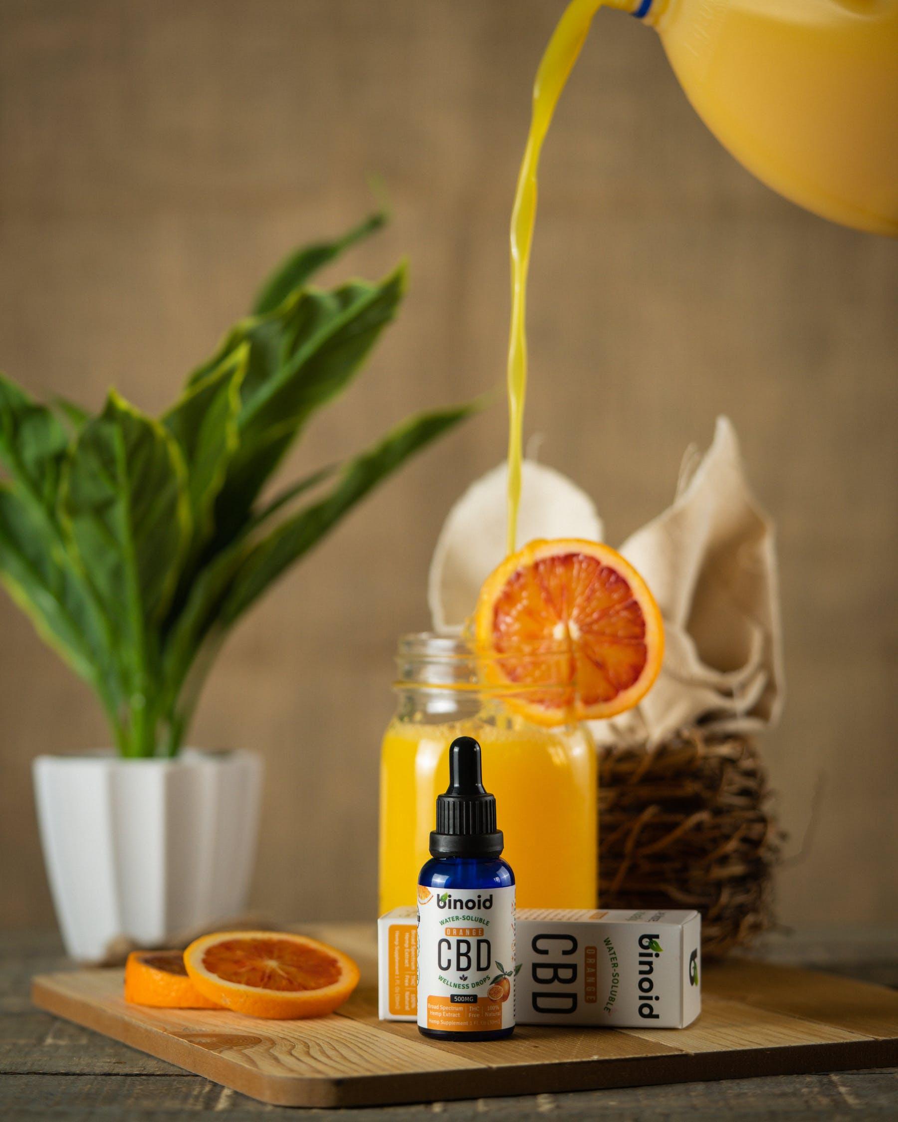 cbd oil and orange