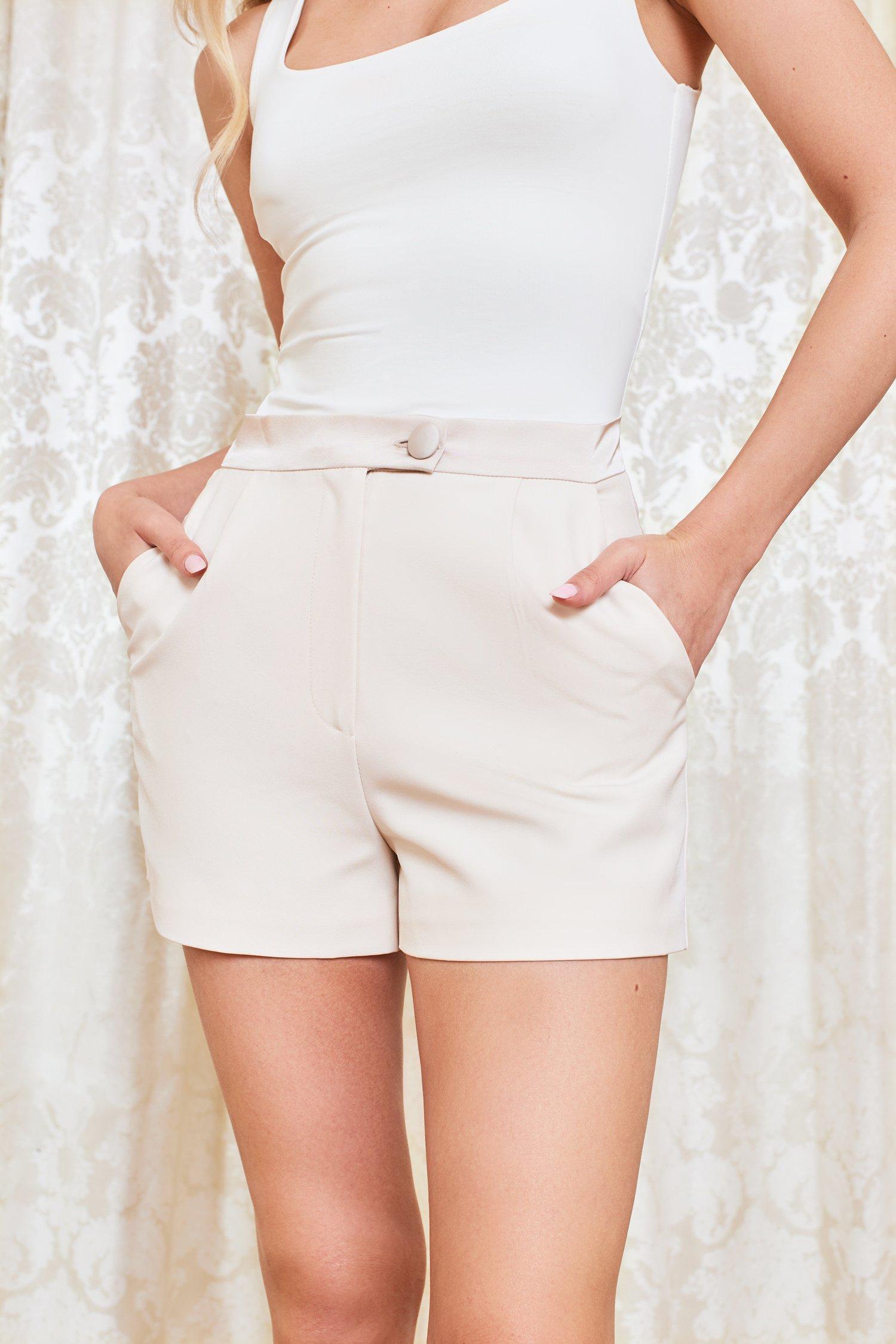 lavish alice discount pre-order satin shorts in champagne