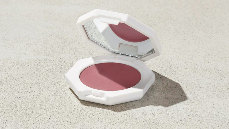 Fenty Beauty Cheeks Out Freestyle Cream Blush in Cool Berry $20 A mauve shade will bring a neutral tone to your makeup look.