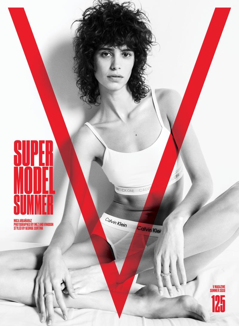 Mica Arganaraz on V Magazine