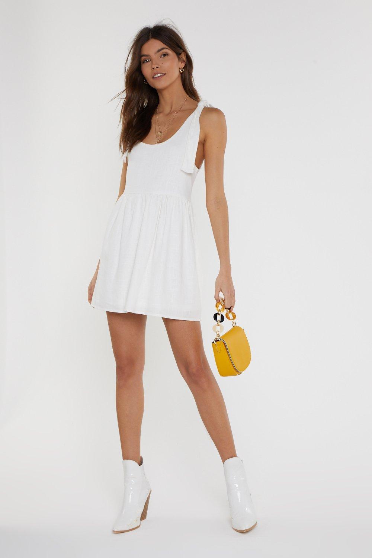 Stunning Summer Dress - Tie Me a River Mini Dress
