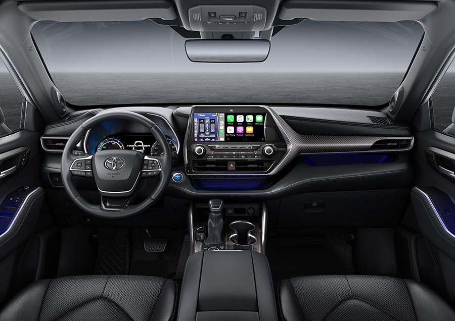 Toyota Highlander 7 seat Hybrid interior