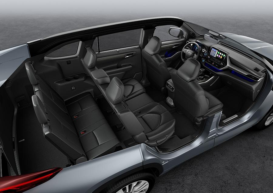 Toyota Highlander 7 seat Hybrid seats