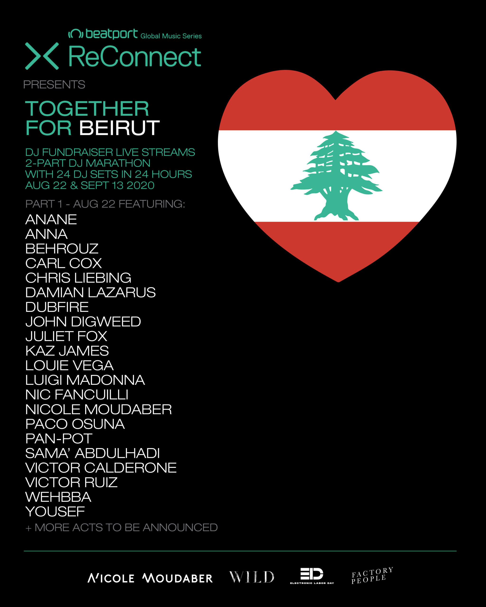 Beatport Reconnect presents 'Together for Beirut'
