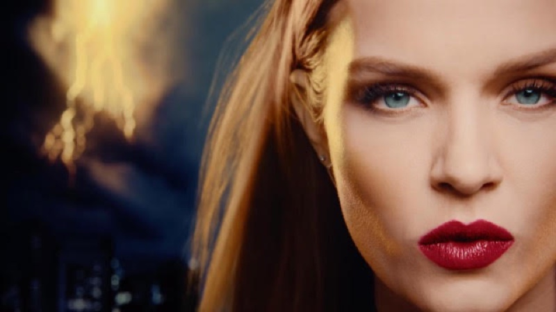 Josephine Skriver gets her closeup in Marvel x Maybelline film