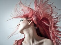Women with flowing pink hair - Hair Extensions For Thin Hair