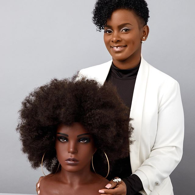 Dionne Smith pictured with the Ebony training doll