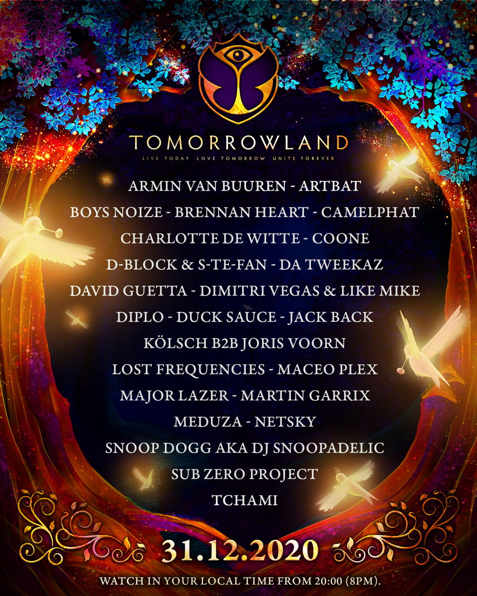 Tomorrowland - Virtual New Years Eve Festival poster