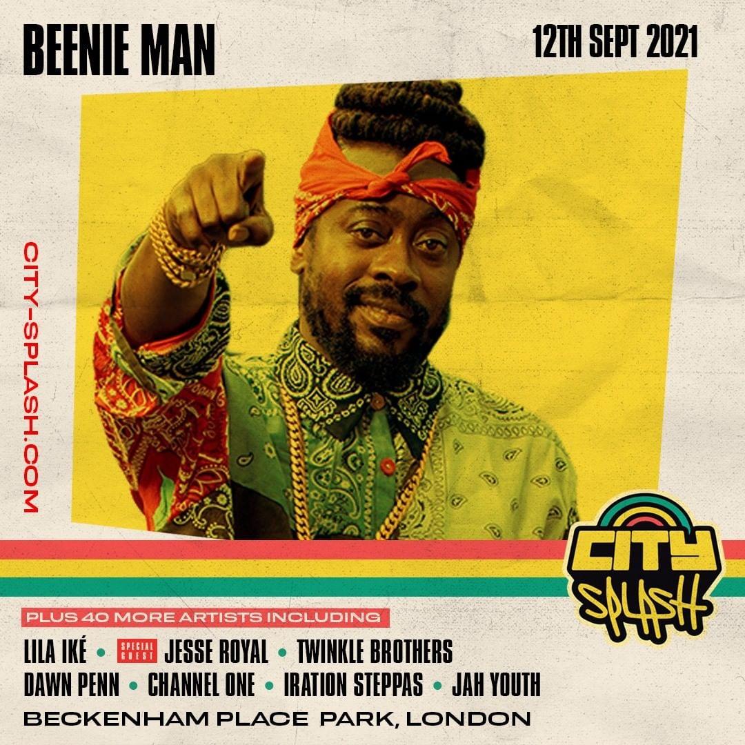 Beenie Man headlining City Splash Festival